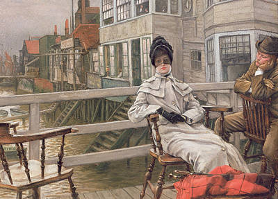 Waiting For The Ferry Poster by James Jacques Joseph Tissot