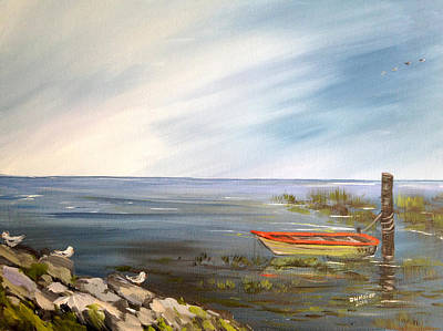 Waiting For The Fisherman Poster by Dorothy Maier