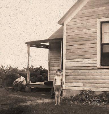 Waiting For The Rain Wataga Illinois 1944 Poster