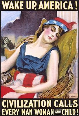 Wake Up America Poster by Pg Reproductions