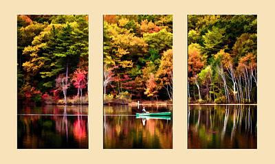 Walden Pond In Three  Poster by Garland Johnson