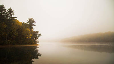 Walden Pond October Morning Poster by Patrick Campagnone
