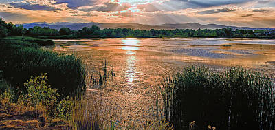 Walden Ponds Sunset II Poster by Brian Kerls