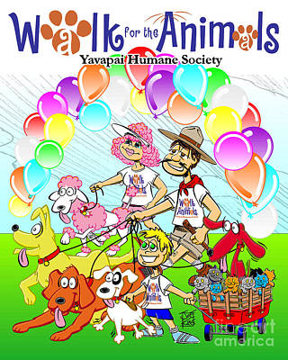 Walk For The Animals Poster by Joe King