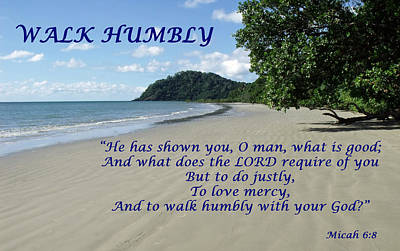 Walk Humbly With Your God Poster