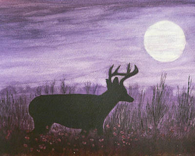 Poster featuring the painting Walk In The Moonlight by Dan Wagner