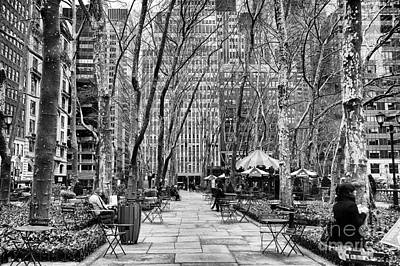 Walk Through Bryant Park Mono Poster