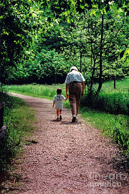 Walk With Grandma Poster by Karen Adams