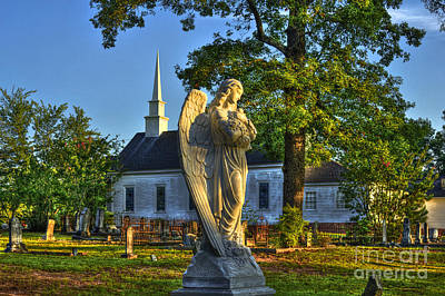 Walker Church Cemetery Angel Poster