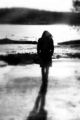 Walking Alone Poster by Valentino Visentini