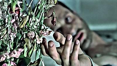Walking Dead Flowers Poster by Florian Rodarte
