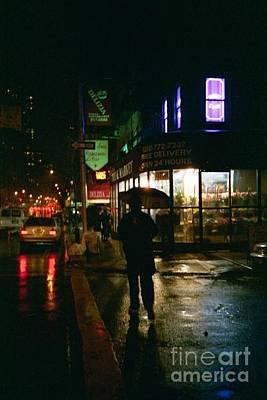 Walking Home In The Rain Poster by Miriam Danar