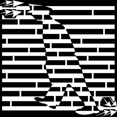 Walking The Beat Maze Poster by Yonatan Frimer Maze Artist