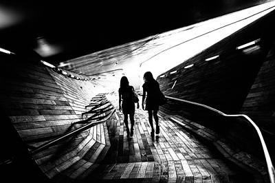 Walking Towards The Light Poster