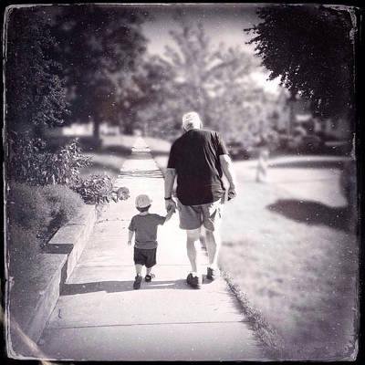 Walking With Grandpa Poster by Natasha Marco