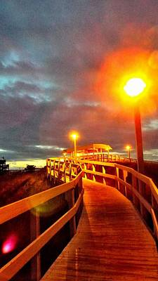 Walkway To Atlantic Poster by Cindy Croal