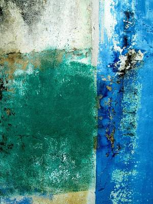 Poster featuring the digital art Wall Abstract 159 by Maria Huntley