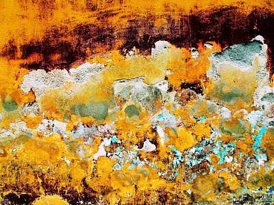 Poster featuring the digital art Wall Abstract 28 by Maria Huntley