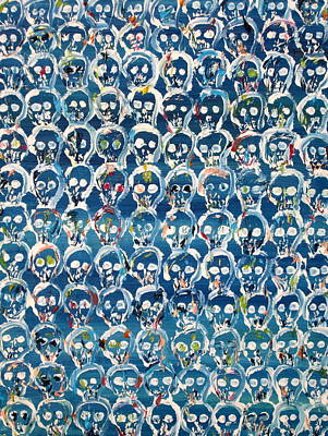 Wall Of Skulls Poster by Fabrizio Cassetta