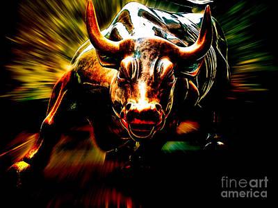 Wall Street Bull Market Poster