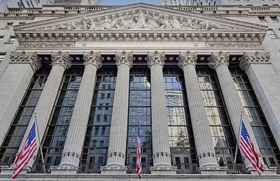 Wall Street New York Stock Exchange Nyse  Poster by Susan Candelario