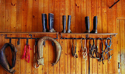 Poster featuring the photograph Wall Tack And Boots by Andy Lawless