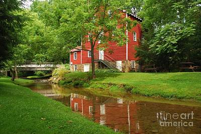 Poster featuring the photograph Wallace Cross Grist Mill Reflections by Bob Sample