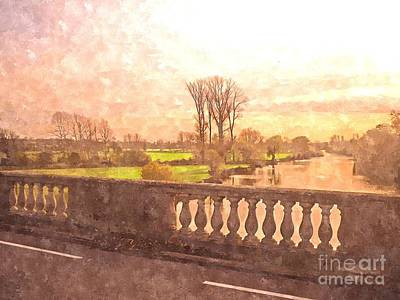 Wallingford Bridge Poster by Jonathan Steward