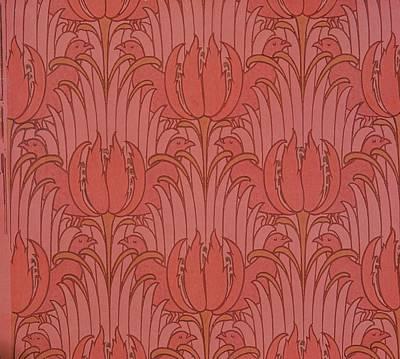 Wallpaper Design Poster by Victorian Voysey