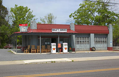 Poster featuring the photograph Wallys Service Station Mayberry by Bob Pardue