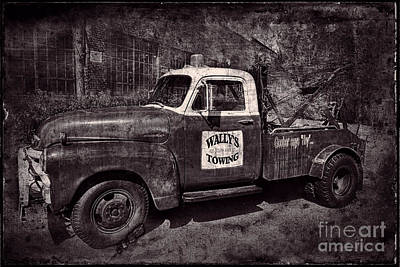 Wally's Towing Bw Poster by David Arment