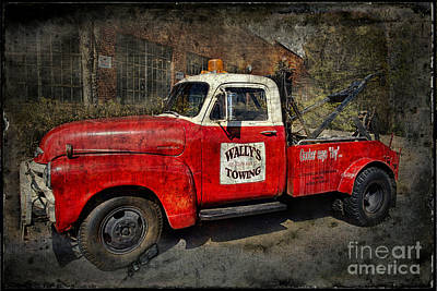 Wally's Towing Poster by David Arment
