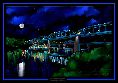 Walnut Street Bridge - Chattanooga Landmark Series - # 1 Poster