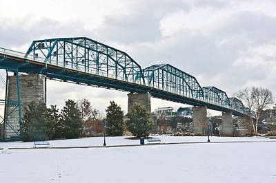 Walnut Street Bridge In The Snow Poster by Tom and Pat Cory