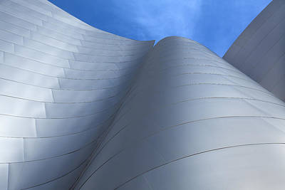 Walt Disney Concert Hall Architecture Los Angeles California Abstract Poster