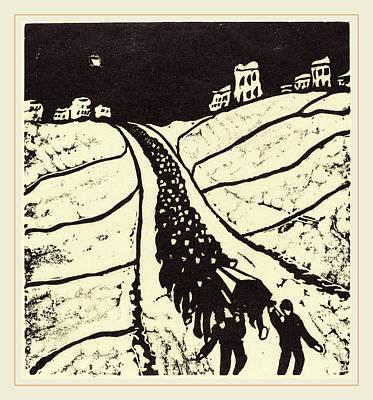 Walter Gramatté, Burial Begrabnis, German Poster by Litz Collection