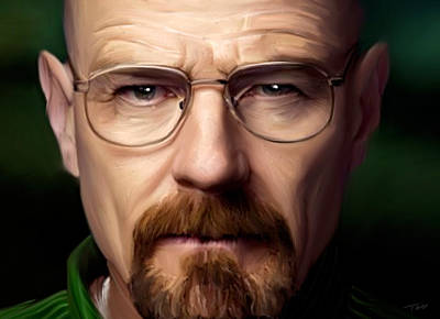 Walter White - Color Poster by Paul Tagliamonte