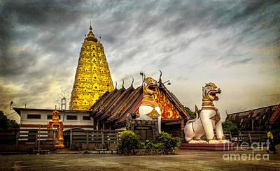 Wang Wiwekaram Temple Poster by Adrian Evans