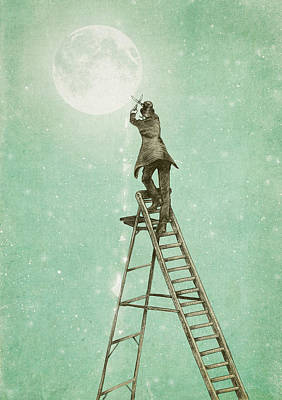 Waning Moon Poster by Eric Fan