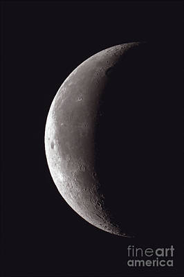 Waning Thin Crescent Moon, 2012 Poster by John Chumack