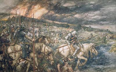 War  After The Battle Poster by Sir John Gilbert