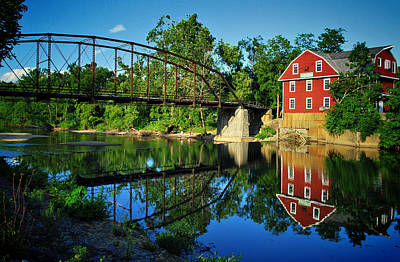 War Eagle Mill And Bridge Poster by Gregory Ballos