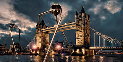 War Of The Worlds London Poster by Peter Chilelli