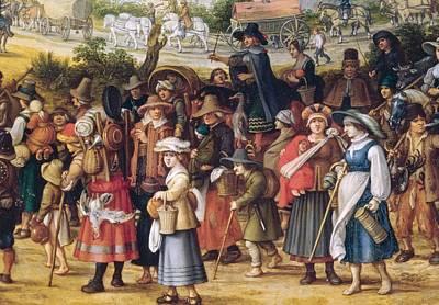 War Scene Oil On Panel Detail Of 242453 Poster