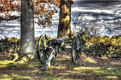 Poster featuring the photograph War Thunder - Lane's Battalion Ross's Battery-b1 West Confederate Ave Gettysburg by Michael Mazaika