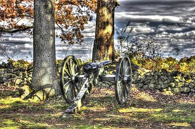 Poster featuring the photograph War Thunder - Lane's Battalion Ross's Battery-b2 West Confederate Ave Gettysburg by Michael Mazaika