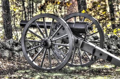 Poster featuring the photograph War Thunder - The Albemarle Va Artillery Wyatt's Battery-b1 West Confederate Ave Gettysburg by Michael Mazaika