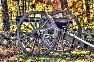 Poster featuring the photograph War Thunder - The Albemarle Va Artillery Wyatt's Battery-b2 West Confederate Ave Gettysburg by Michael Mazaika