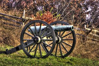 Poster featuring the photograph War Thunder - The Morris Artillery Page's Battery Oak Hill Gettysburg by Michael Mazaika