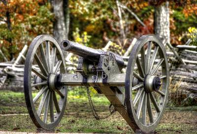 War Thunder - The Orange Artillery Fry's Battery - 1b Oak Hill Autumn Gettysburg Poster by Michael Mazaika